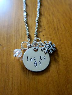 Frozen Inspired Elsa Let It Go Necklace. Silver colored crystal for women or girls. by WithLoveFromOC (item: 2015105250)