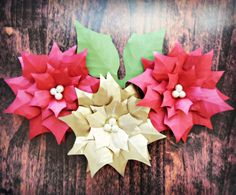 Lighted Christmas Garland. DIY Paper Poinsettias We are moving on to week two with our DIY Christmas Decor Ideas! ...