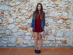 Erase una vez...mi estilo!!: Burgundy nice dress!