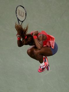 Serena Williams celebrates after defeating Victoria Azarenka in the women's singles final.