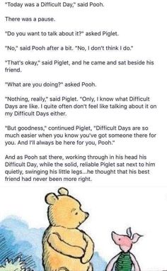 Pooh and Piglet Pooh And Piglet Quotes, Winnie The Pooh Friends, Winnie The Pooh Poems, Book Quotes, Words Quotes, Sayings, Qoutes, Quotes Images, Pooh Bear
