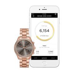 53cb1ccd934c5 Michael Kors Access Hybrid Rose Gold Slim Runway Smartwatch MKT4005. 41mm  Case Diameter. Analog