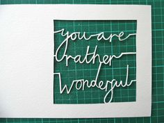 Paper Cutting Fundamentals: How to Cut Tricky Letters