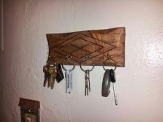 Llavero hecho con madera de pallet por Papulin