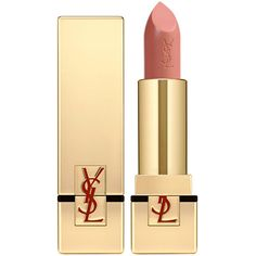 Yves Saint Laurent Rouge Pur Couture - 24: Luminous Fresh Pink Peach ($34) ❤ liked on Polyvore