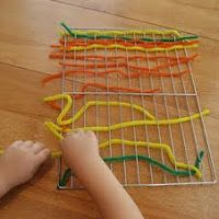 - weaving = an activty that promotes fine motor skill development - from 30 Kids Activities & Materials for Promoting Fine Motor Skills | hands on : as we grow