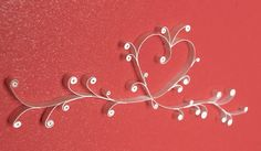 So delicate! Paper Quilling Tutorial, Quilling Craft, Quilling Patterns, Wedding Quilling Ideas, Paper Art, Paper Crafts, Card Crafts, Origami, Quilled Creations