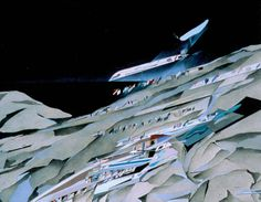 Painting, The Peak, Exploded Isometric, Hong Kong, Zaha Hadid, 1982-83