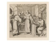 Martin Luther is Sent by Staupitz to the Augustinian Monastery at Meissen in Thuringen. Giclee Print by Gustav Konig at Art.com