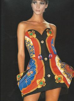 very rare GIANNI VERSACE Couture sculpted runway dress - 1991 image 9