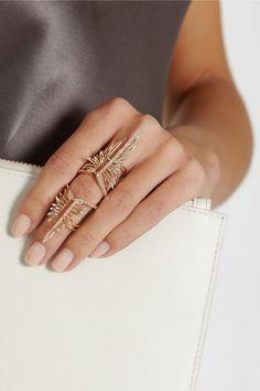 Rose gold, brown diamonds ring by Cristina Ortiz
