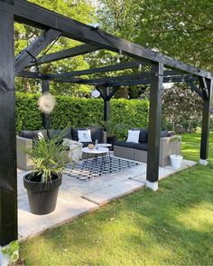 Outdoor Pergola, Backyard Pergola, Backyard Landscaping, Outdoor Rooms, Wood Pergola, Backyard Patio Designs, Modern Backyard, Garden Sitting Areas, Decks
