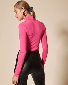 #choosepink Leather Pants, Athletic, Woman, Pink, Jackets, Tops, Fashion, Leather Jogger Pants, Down Jackets
