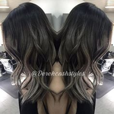 Love this look! @derekcashstyles used #KenraColor 3N with 4N at root + 10 vol for 35 mins. At the sink he pushed the root color down for 5 mins. Finally, he toned the ends with SV Rapid Toner for 10 mins. #GrayHair #Kenra