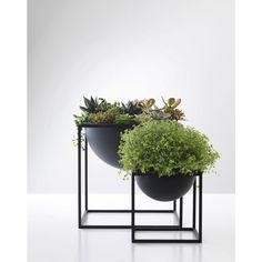 Kubus Black Steel Metal Scandinavian and Danish Fruit Bowl- By Lassen   Urban Couture -
