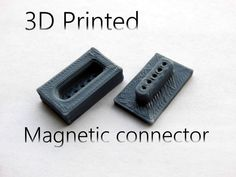 Picture of 3D printed magnetic connector! *UPDATED*
