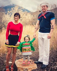 Popeye, Olive Oil + Spinach: This family nailed it with their Popeye et al. getups. We've never seen a cuter can of spinach!