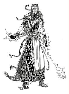 A one off - an approximately A4 original drawing of the 'Warlock of Firetop Mountain' has just gone up for sale on the Le Grimoire site http...