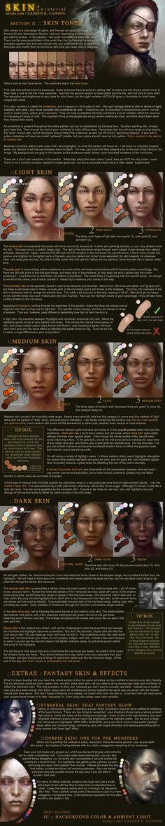 SKIN: a tutorial - Part 2 by *navate  Resources & Stock Images / Tutorials / Digital Art / Drawing & Painting / Photoshop  *Complete with colour palette,colour swatches and supplementary links to colour theory in the artist's journal...REALLY useful! -Click through to download*    **PART_TWO**