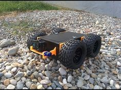 Custom made robot with printed parts and tilt mechanism for FPV/action camera Robotics Projects, Arduino Projects, Drone Technology, Science And Technology, Robot Chassis, Curiosity Rover, Raspberry Pi Projects, Circuits, Lawn Mower