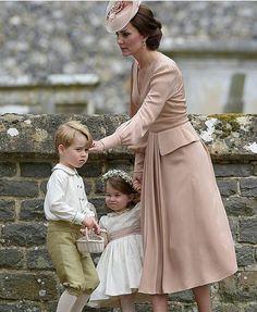 Catherine, George, and Charlotte