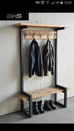 Industrial Design Furniture, Metal Furniture, Repurposed Furniture, Furniture Projects, Diy Furniture, Furniture Design, Industrial House, Furniture Removal, Industrial Chic