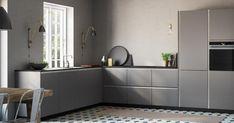 Met Tinta Grey kun je een stijlvolle keuken creëren met een elegant en eenvoudig design.