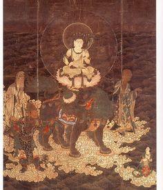 日本國寶 京都醍醐寺 文殊渡海圖 鎌倉時代的作品  尺寸;143.0 cm × 106.4 cm.