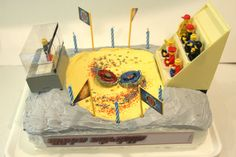 Beyblade Tournament Birthday Cake
