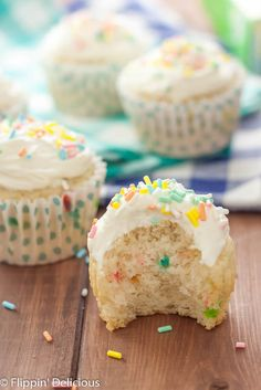 Funfetti Cupcakes with Cake Batter Frosting | Is there anything more fun than Funfetti recipes?