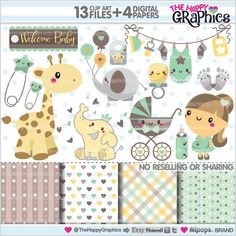 Baby Clipart, Baby Graphics, COMMERCIAL USE, Kawaii Clipart, Pregnant Mom, Planner Accessories, Pregnancy, Maternity, Expecting, Baby Shower