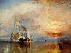 Joseph Mallord William Turner  - El último viaje del temerario - óleo sobre lienzo montado sobre bastidor - Listo para envío inmediat
