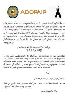 PROMOCION DE OFICIALES PIP: FALLECIMIENTO Y SEPELIO DEL HERMANO RAMÓN ALVA CAL...