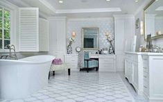 You could call this space a bathroom, but it definitely looks more like a complete spa. Source: The Agency