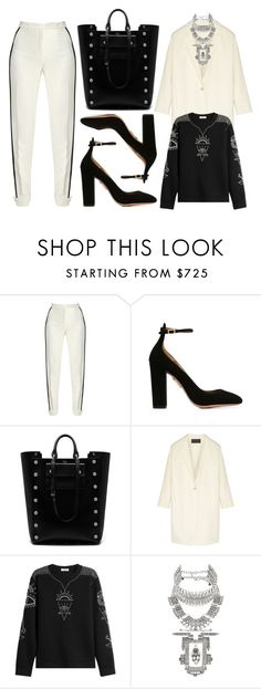 """Black + White"" by cherieaustin on Polyvore featuring Elie Saab, Mulberry, Donna Karan, Valentino and DYLANLEX"