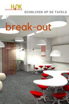 Conceptontwikkeling vraagt een interieurontwerp voor een dynamische en creatieve ruimte die je bovendien heel functioneel en divers kunt gebruiken. Schrijven op magnetische whiteboards, tafels van whiteboard en zelfs 'waterplassen' op de vloer van beschrijfbaar glas. Schakelbare 'bulb-tafels' voor grote vergaderingen en het opsplitsen in werkgroepen: break-out room. De hele ruimte roept op tot activiteit. Inspire, Inspiration, Home Decor, Biblical Inspiration, Homemade Home Decor, Interior Design, Home Interiors, Decoration Home, Home Decoration