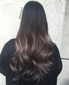 Ash ombre balayage hair inspiration balayage hair, hair ve h Ash Ombre, Balayage Hair Ash, Ombré Hair, Brunette Hair, Hairstyles Haircuts, Dark Hair, Brown Hair, Gorgeous Hair, Long Hairstyles