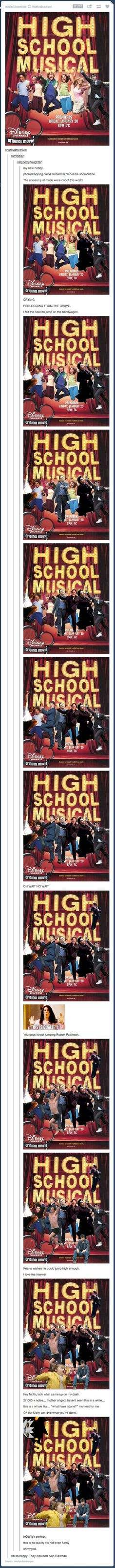 High School Musical just got better <<--- it was never good. Now it's just fun to mess with. Lol.