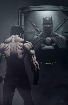 "Batman ""I Choose This Life"" by Nimesh Niyomal Batman Poster, Batman Artwork, Batman Wallpaper, Dc Universe, Batman Universe, Batman Love, Batman Vs Superman, Batman Fight, Batman Training"
