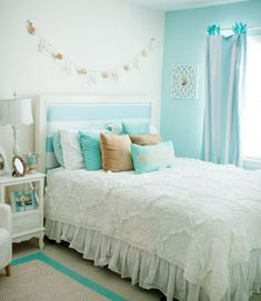 Modern Teen Room Ideas Stylish and Trendy. Best Teen Room Design Ideas Modern And Stylish. Teen Room Designs, Girl Bedroom Designs, Room Ideas Bedroom, Bedroom Themes, Bedroom Furniture, Bedroom Color Schemes, Bedroom Colors, Teal Bedroom Decor, Teenager Zimmer Design