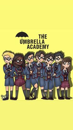 The Umbrella Academy- from Aiden Gallagher insta story Umbrella Art, Under My Umbrella, Wallpaper Iphone Cute, Cute Wallpapers, Culture Pop, Cute Disney, My Chemical Romance, Nerdy, Fanart