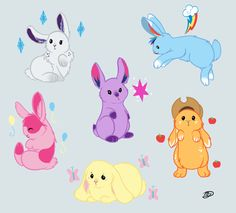 OMG MLP bunnies look at the cute rarity one ;)