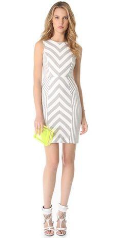 Milly Striped Sheath Dress