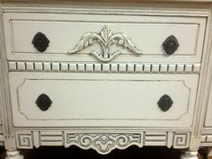 Buffet Details painted by A to Z Custom Creations with Webster's Chalk Paint Powder