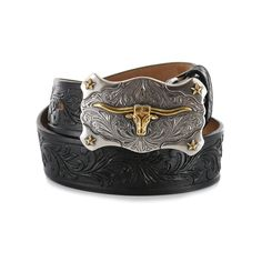 Keep your little one in styling with the classic iconic cowboys in this Little Texas Leather Belt from Tony Lama. Steer Head, Cowboy Belt Buckles, Western Belts, Country Outfits, Levis Jeans, Cuff Bracelets, Men Clothes, Leather, Texas