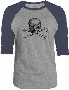 Big Texas Skull and Bones 3/4-Sleeve Raglan Baseball T-Shirt