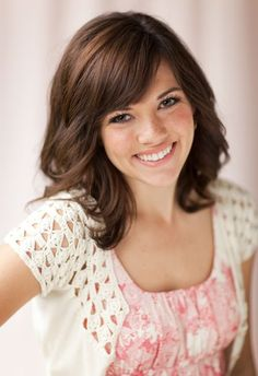 medium layered haircuts with side bangs - Google Search