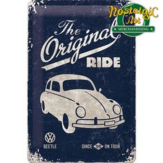 Nostalgic Art Duvar Panosu VW Beetle-The Original Vw Vintage, Vintage Labels, Vintage Posters, Carros Vintage, Pop Up Greeting Cards, Nostalgic Art, Art Impressions Stamps, Deco Retro, Small Tins