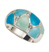 Enamel Elegance Ring in Turquoise-Color - A sophisticated style statement. Silvertone enamel-look with rhinestone accents. Regularly $19.99, buy Avon Rings online at http://eseagren.avonrepresentative.com/