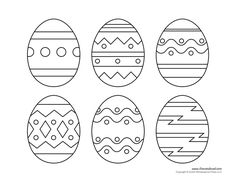 Free Printable Easter Egg Coloring Pages Printable Egg - Coloring Page Ideas Easter Bunny Eggs, Ukrainian Easter Eggs, Easter Egg Dye, Easter Egg Crafts, Easter Egg Printables, Easter Gift, Happy Easter, Easter Bunny Template, Easter Templates